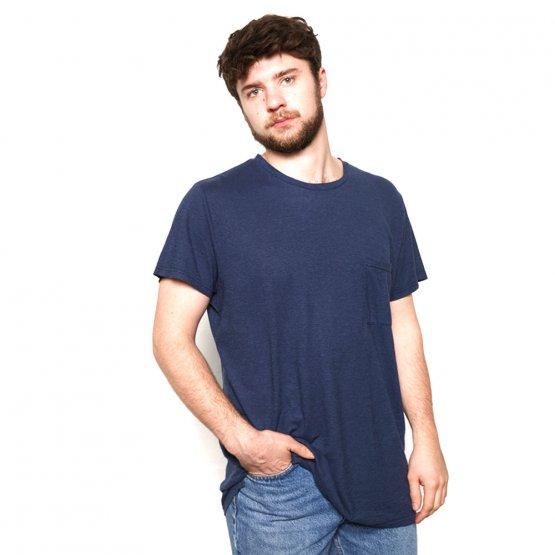 Shirt HOVITO aus Hanf mit Brusttasche in Dunkelblau von MA Hempwear