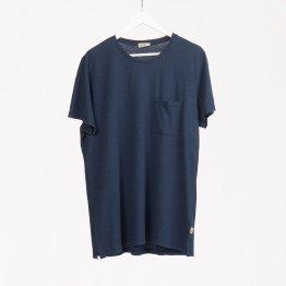 Shirt HORVITO aus Hanf mit Brusttasche in Dunkelblau von MA Hempwear