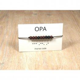 Morse Code Armband OPA