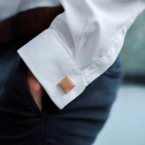eckige Manschettenknöpfe aus Kork von UlstO Bags
