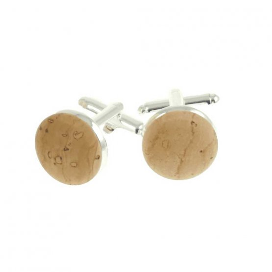 runde Manschettenknöpfe aus Kork von UlstO Bags