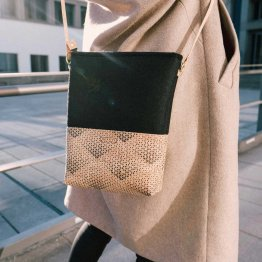 Handtasche aus gemustertem Kork von UlstO Bags