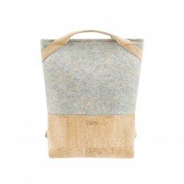 Rucksack aus Kork und recyceltem PET in Gru Konfetti von UlSto
