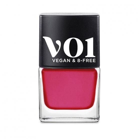 veganer Nagellack in dunklem Pink