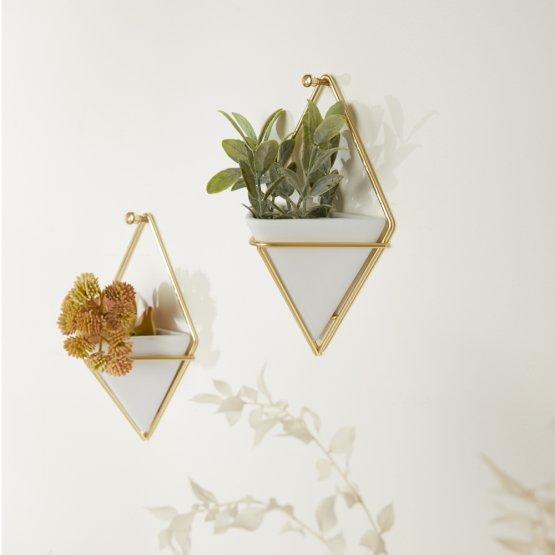 Kleine Wandvasen in geometrischen Design