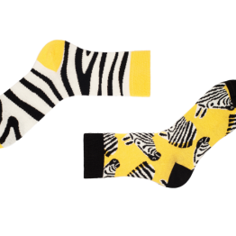 "Mismatched Zebra Socken ""Marty"" von Sammy Icon"