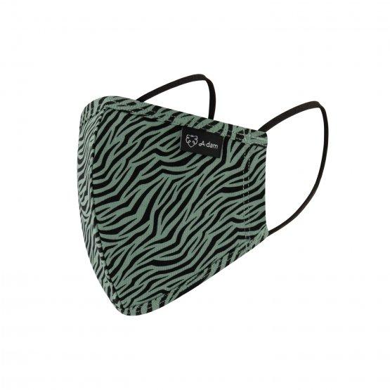 Alltagsmaske mit Zebramuster aus Bio-Baumwolle von A-dam Underwear