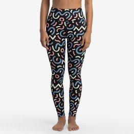 Leggings MEGAN mit Grafik Print aus recyceltem Polester von A-dam Underwear mit extra hoher Taille