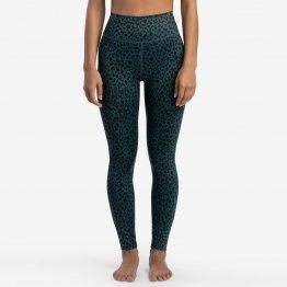 Leggings LEAH mit Leo Muster aus recyceltem Polester von A-dam Underwear mit extra hoher Taille