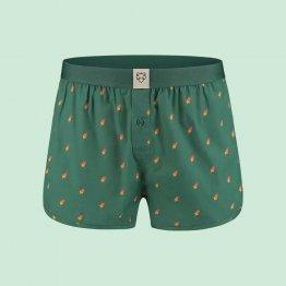 grüne Boxershorts mit Eis am Stil Motiv - Ansicht von vorne