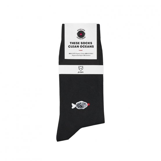 Socken mit aufgesticktem Sojasaucen Fisch von A-dam Underwear