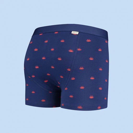 dunkelblaue Retropants mit Krebsen von A-dam Underwear