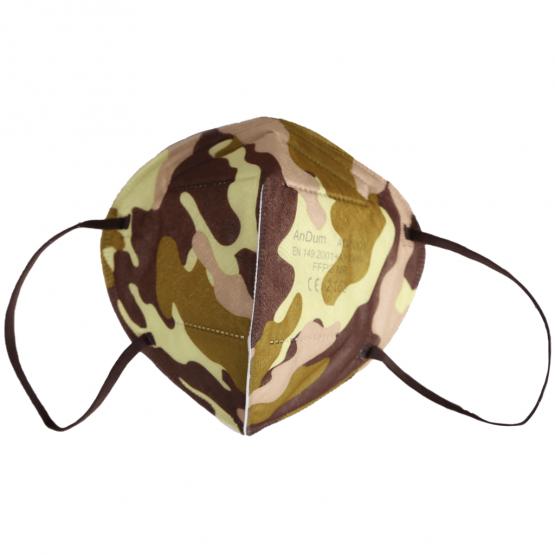 bunte FFP2 Masken mit Camomuster