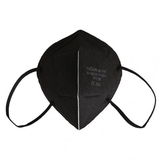 bunte FFP2 Masken in Schwarz