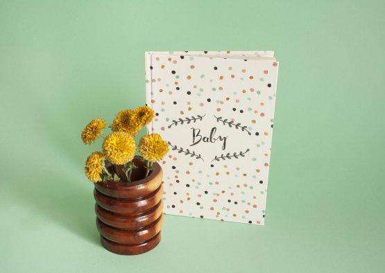 Babybuch Tagebuch für das Baby von Bär von Pappe