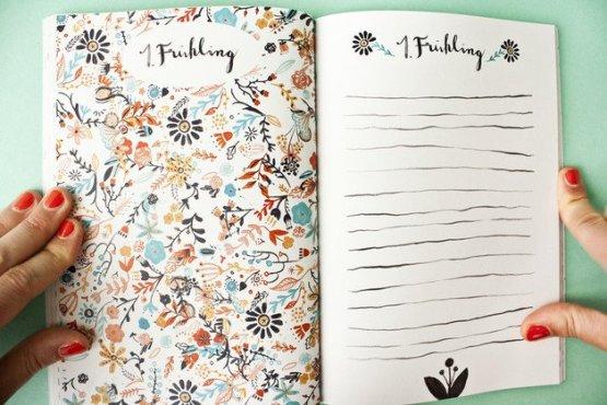 Babybuch Innenansicht Tagebuch für das Baby von Bär von Pappe