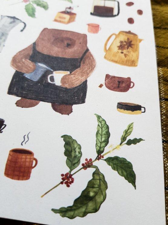 Postkarte BAERISTA von Bär von Pappe