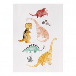 Postkarte mit Dinos
