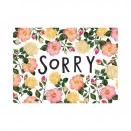 Postkarte sorry mit Rosen