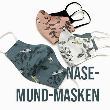 Nase-Mund-Masken mit Libellen-Muster 3er Set