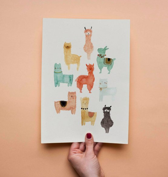 "Bär von Pappe – Postkarte ""Alpakas"""