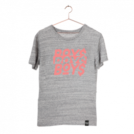 "T-Shirt ""Boys"" in Grau Melange von Dit is Balin"
