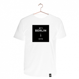 "T-Shirt ""Mitte"" in Weiß von Dit is Balin"