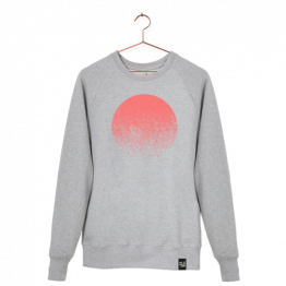 "Pullover ""Sundowner"" in Grau in Pink von Dit is Balin"