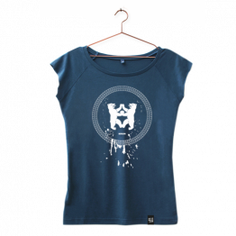 "T-Shirt ""Drips"" mit Berlin Motiv in Blau von Dit is Balin"