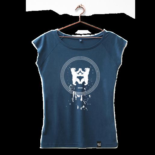 """T-Shirt """"Drips"""" mit Berlin Motiv in Blau von Dit is Balin"""