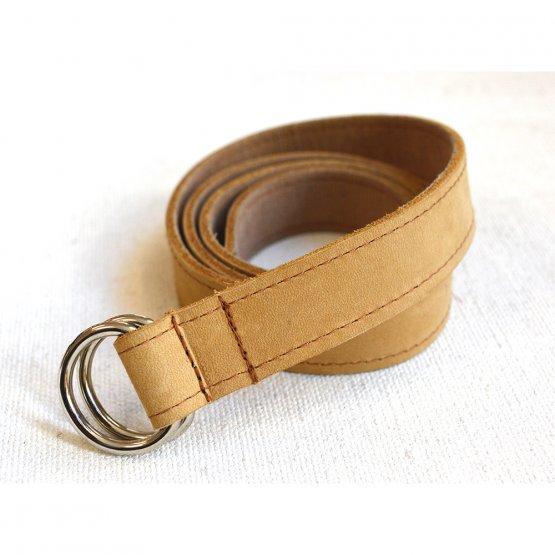 brauner Gürtel aus Leder – Ledergürtel braun von Elektropulli