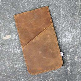 Handycas aus braunem Leder mit extra Tasche von Elektropulli