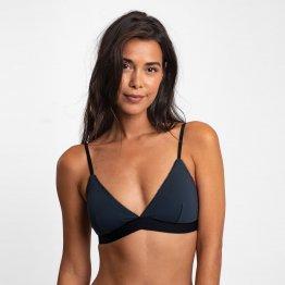 dunkelgrauer Triangel BH, T-Shirt BH, Bralette aus Bio-Baumwolle aus A-dam Underwear
