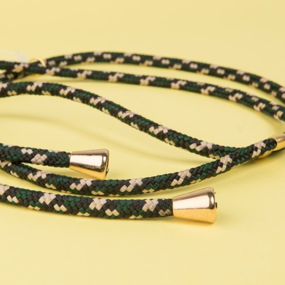 Handykette in Green Camo – mobile necklace von xouxou