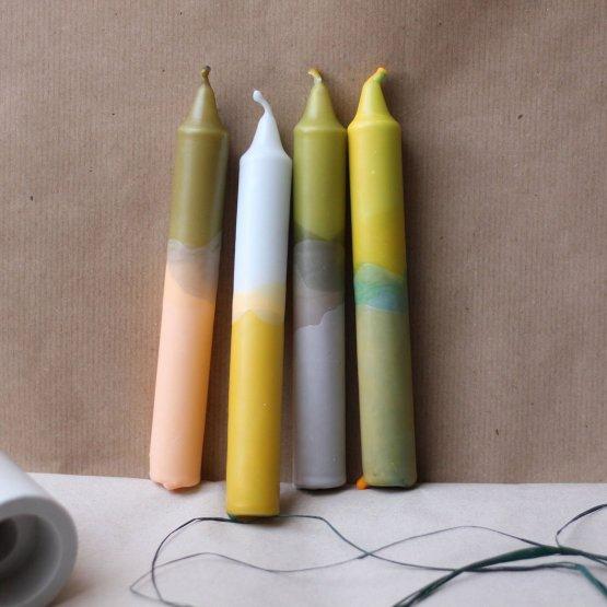 4er Kerzenset mit Farbverlauf von Felt Moon Studio