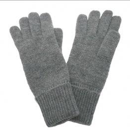 Weiche grau melierte Fingerhandschuhe mit Kaschmir von Gebeana