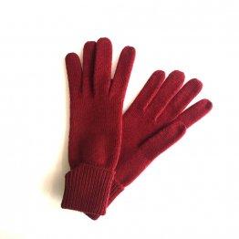 rote Handschuhe mit Kaschmir von Gebeana