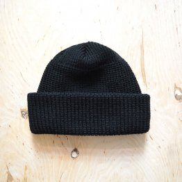 schwarze Koggenmütze aus Schurwolle von Gebeana