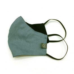 Nas-Mund-Maske in Blaugrau und Schwarz