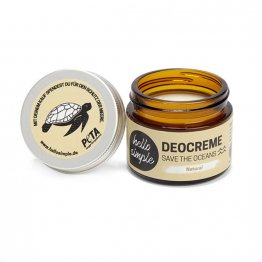 feste Deocreme Natural von Helle Simple - plastikfrei und vegan