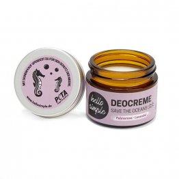 feste Deocreme Palmrosa Lavendel von Helle Simple - plastikfrei und vegan