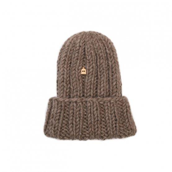 grobstrick mütze muffi aus schafwolle
