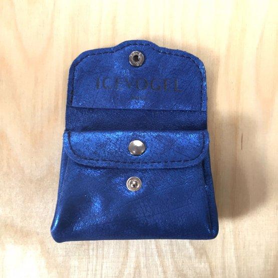 metallic blaue Geldbörse aus Leder von Icevogel