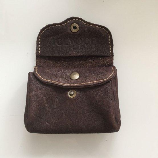 dunkelbraune Geldbörse aus Leder von Icevogel