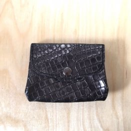 dunkelgraue Geldbörse aus geprägtem Leder von Icevogel