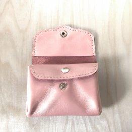 rosa metallic schimmernde Geldbörse aus Leder von Icevogel