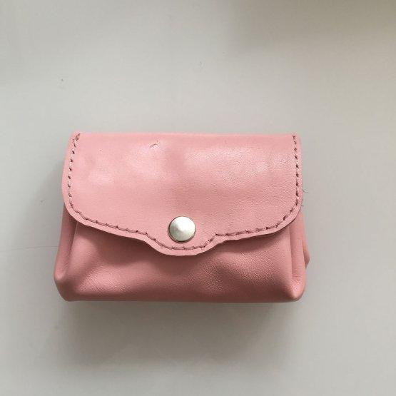rosa Geldbörse aus Leder von Icevogel