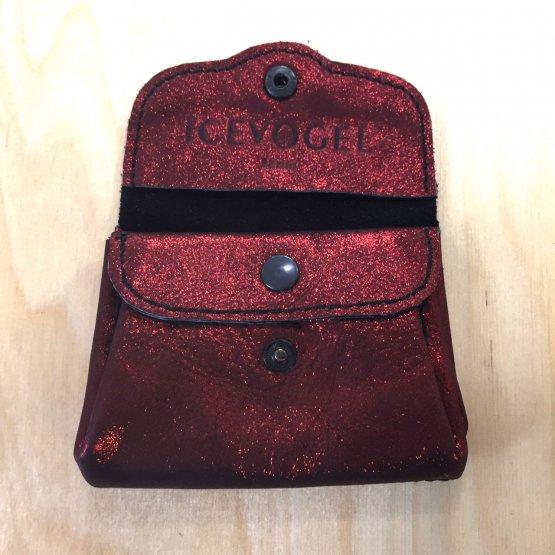 rot metallic schimmernde Geldbörse aus Leder von Icevogel