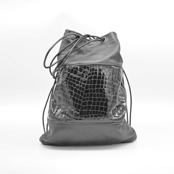 Icevogel rucksack leder schwarz