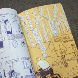 DER TRIP - Graphic Novel von Nozomi Horibe. Ein Reisebuch über einen Trip durch Brandenburg mit dem Fahrrad